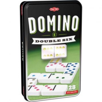 Domino Double Six peltilaatikko lautapeli Tactic