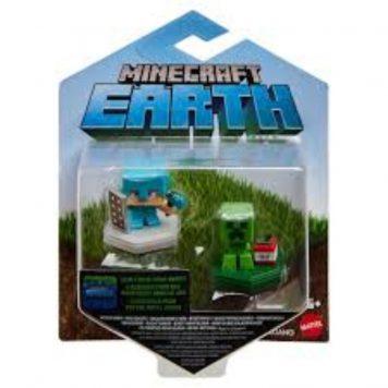 Minecraft Earth mini hahmot 2 kpl Alex & Creeper